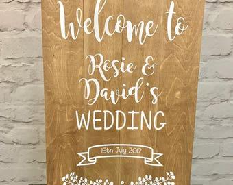 Rustic Welcome Wedding Sign