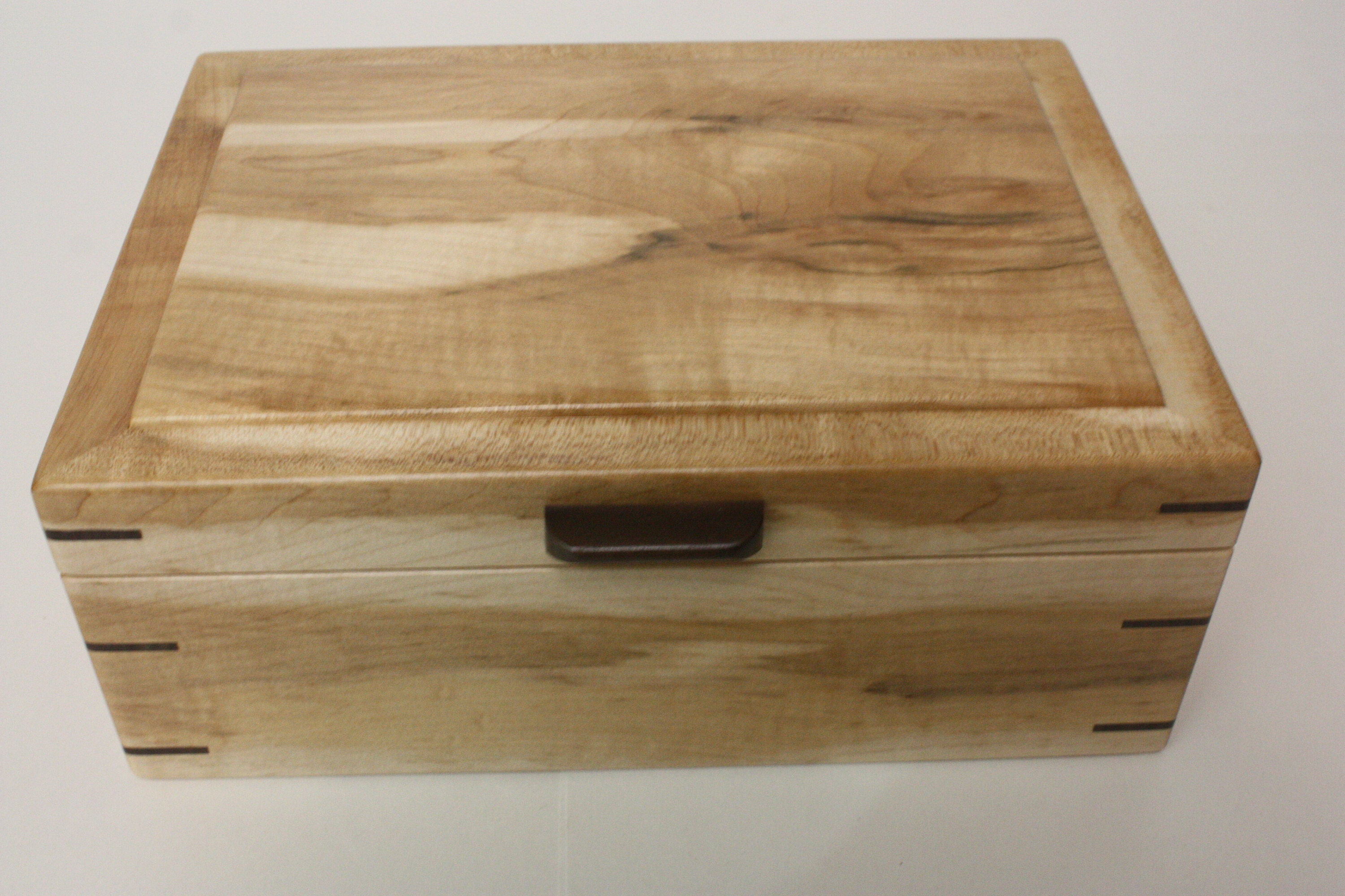 Large Maple Wood Box For Sale