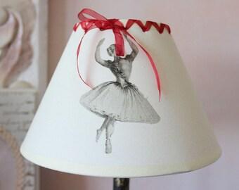 """Romantic lamp shade - Shabby chic """"Ballerina"""" and Ribbon"""