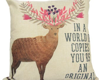 In a World of Copies You're an Original - Pillow Cover
