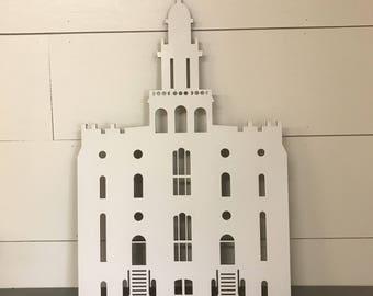LDS Temple Cutout, Wood Laser Cut Temple, St. George and Salt Lake Temple, Choose Your Temple