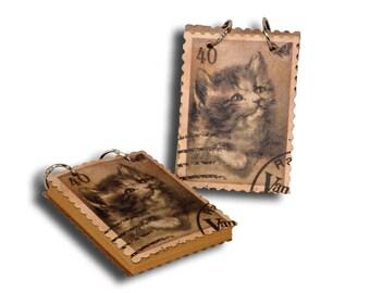 "Notebook with ""Kitten"" metal rings"