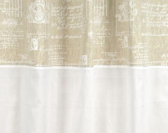 "Curtain 150 X 250 ""White Angel"" with sheer lace"