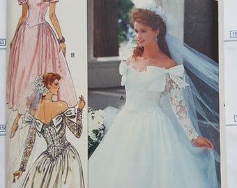 Butterick Wedding Dress Pattern Sizes 6-10  #3513