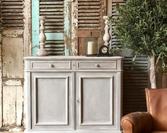 Rustic vintage French cabinet / cupboard hand painted in Annie Sloan