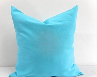 SALE Solid Mandarin Blue Pillow case. Blue Sham cover,Blue pillow cover ,Cushion cover, Select your size.