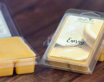 Energy Wax Melts - Citrus Wax Tart - Soy Wax Melt - Candle - Wickless Candle - Candle Warmer - Christmas Candle - Holiday Wax