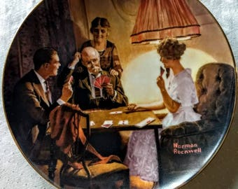 """Norman Rockwell """"This is the Room that Light Made"""" Limited Edition Collector Plate; Edwin Knowles; Light Campaign collection 1983"""
