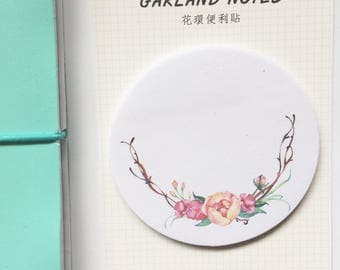 Cute Kawaii Sticky Notes Garland Index Notes for Planners Notebooks