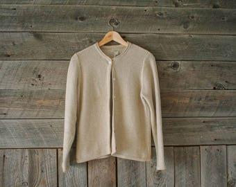 vintage cotton LL Bean cardigan