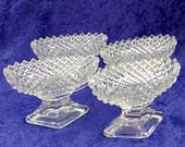 Oval Clear Cut Glass with...
