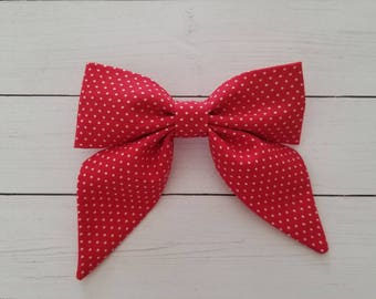 Alice Bow- Red and White Polka Dot