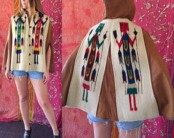 Native American Chimayo Leather Jacket Mexican Chimayo Jacket Antique Indian Handwoven Leather Jacket