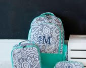 Monogrammed Backpack - Toddler Backpack - Back to School - Preschool Backpack - Personalized Backpack - Girls Lunchbox - Kids Backpack