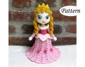 Amigurumi Pattern Crochet Doll Pattern Amigurumi Doll Pattern Amigurumi Princess Pattern - AURORA Sleeping Beauty - PDF - Plush Doll
