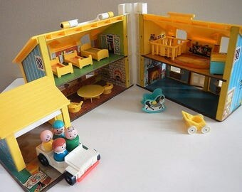 Vintage Fisher Price Doll House Etsy