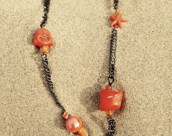 Orange mécanique collier/necklace