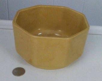 Ceramic Planter, Cookson Pottery, Gold Planter, Pottery Planter, Vintage Planter, Round Planter, Old Planter, Indoor Planter, Succulent Pot