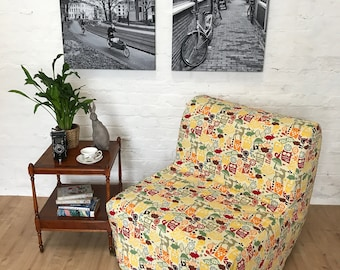 Slipcover to fit Ikea Lycksele CHAIR or DOUBLE sofa bed in a Beautiful Forrest Friends cotton fabric