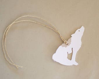 Wolf Gift Tags - Set of 8 White Moose Hang Tags