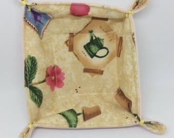 Textile Trinket Tray (garden)