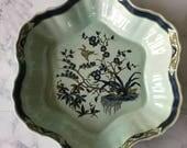 Vintage Adams Ming Toi Serving Bowl, Adams Calyx Ware, chinoiserie bowl, asian serving dish, ironstone salad bowl, heron bowl, micratex