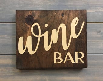Wine bar Sign, Kitchen signs, Hand Painted, kitchen decor, Farmhouse decor, Wine Bar Decor, Wine bar, Wine signs, French Country decor