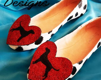Custom made Dalmatian Dolly Flats Shoes, Dog, Bread,Man's Best Friend