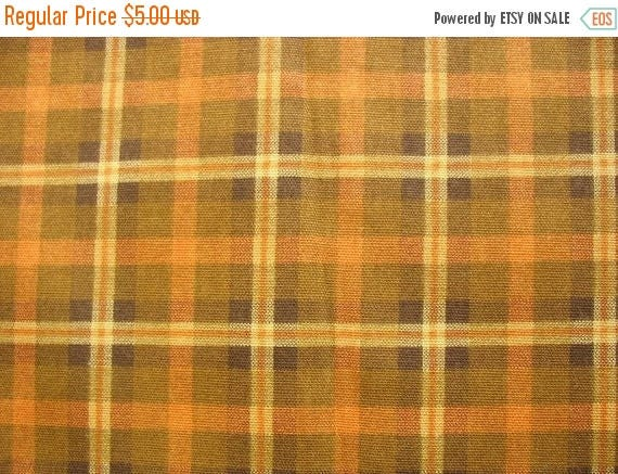 on sale fabric on sale half yard plaid cotton canvas fabric in brown color from vedahdesigns on. Black Bedroom Furniture Sets. Home Design Ideas