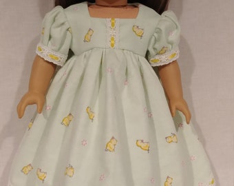 "Pretty nightgown for your 18"" doll, Ready to ship!"