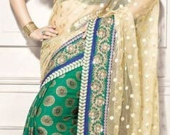 Beautiful  banarasi silk net Saree. Bollywood.