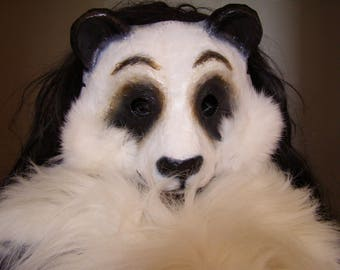 Panda mask Bear mask Animal mask Masquerade mask Carnival mask Face mask Paper mache mask