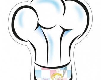 8 plates forms Little Cooks chef Hat