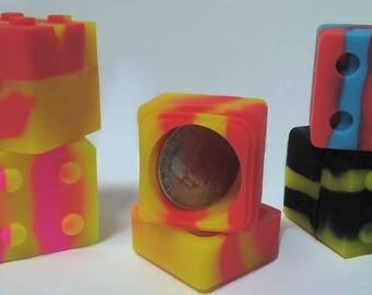 5 x 11ml Lego Non Stick silicone storage containers(