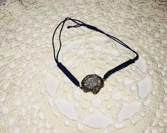 Silk string precious stone bracelet