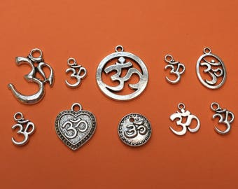 The Om Charm Collection Antique Silver - CC042