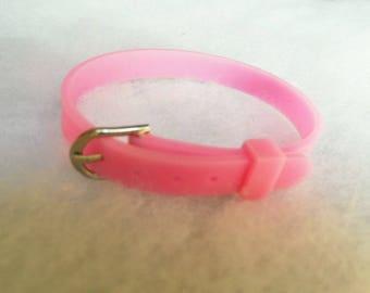 Bracelet silicone rose clasp type belt