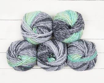 Lana Grossa Olympia Grey/Green 5 Ball's
