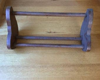 Vintage Timber Book Rack/stand