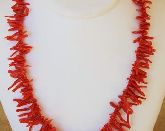 Necklace with red coral from Corsica 1st choice