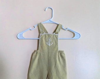 60s Baby Shortalls with Anchor Applique by Carters Size  6 months