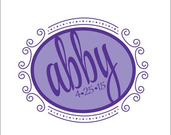 Swirly Bat Mitzvah Logo #1