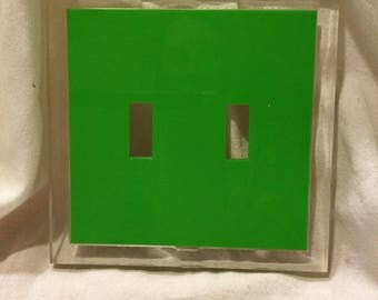 Mod lucite switch plate cover