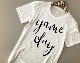 Game Day Shirt - Game Day Tee - Football Shirt - Football Mom Shirt - Game Day Clothing - Women Football Tops - Game Day TShirt