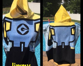 MINION Super Soft Hooded BeachTowel Poncho - Personalized