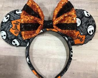 The Pumpkin king Minnie Inspired Ears