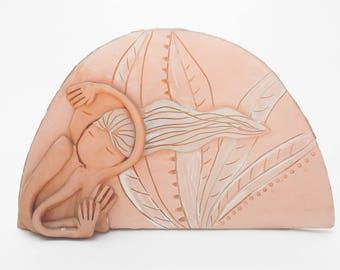 decorative ceramic tile piece
