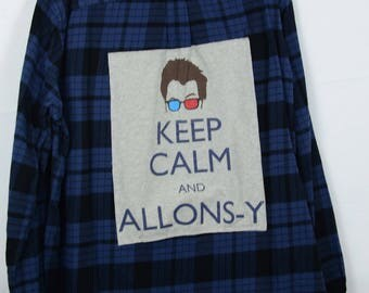 Upcycled Flannel Shirt Keep Calm and Allonsy