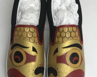 Foo dog shoes, Chinese guardian lion shoes, Imperial guardian lion shoes,  stone lion shoes,shishi shoes