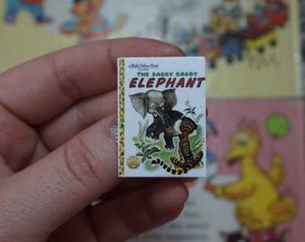 Saggy Baggy Elephant - LITTLE GOLDEN BOOK - Brooch, Disneybound, Miniature, Flare, Bounding, Mini, Nostalgia, 90s, Childhood